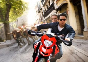 Running bulls in Seville in  the film Knight and Day.